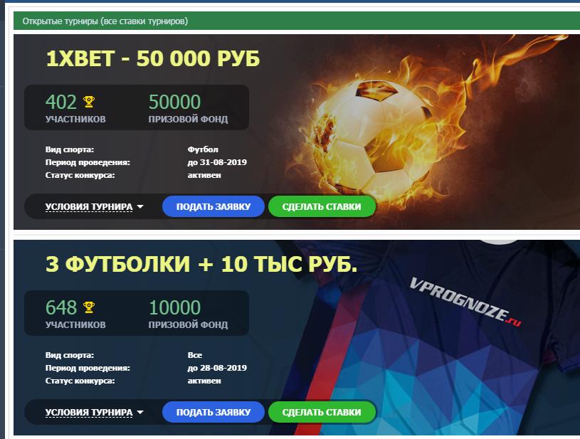 Впрогнозе турниры Турниры на сайте