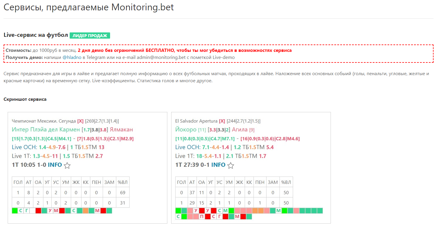Monitoringbet сервисы
