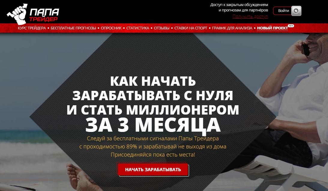 Отзывы о «Папа Трейдер | Бинарные опционы»
