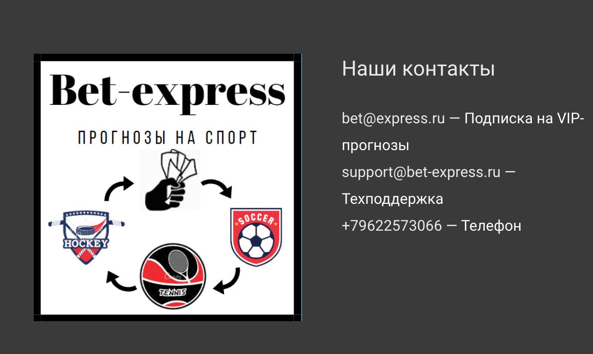 Контакты сайта Bet Express (Бет экспресс)