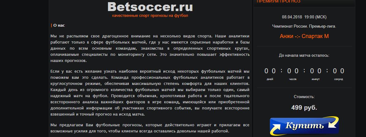 Betsoccer сайт