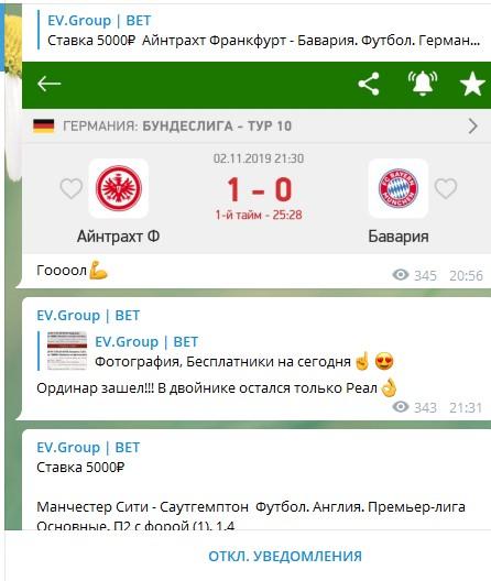 EV.Group Bet статистика