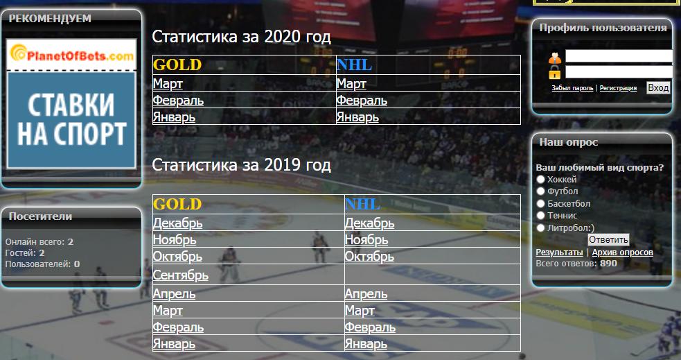 hockey mania статистика