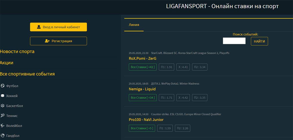 Прогнозы от Ligafansport.ru (Лигафанспорт)