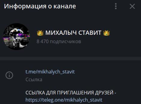 Михалыч ставит информация о канале