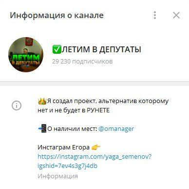 летим в депутаты информация о канале