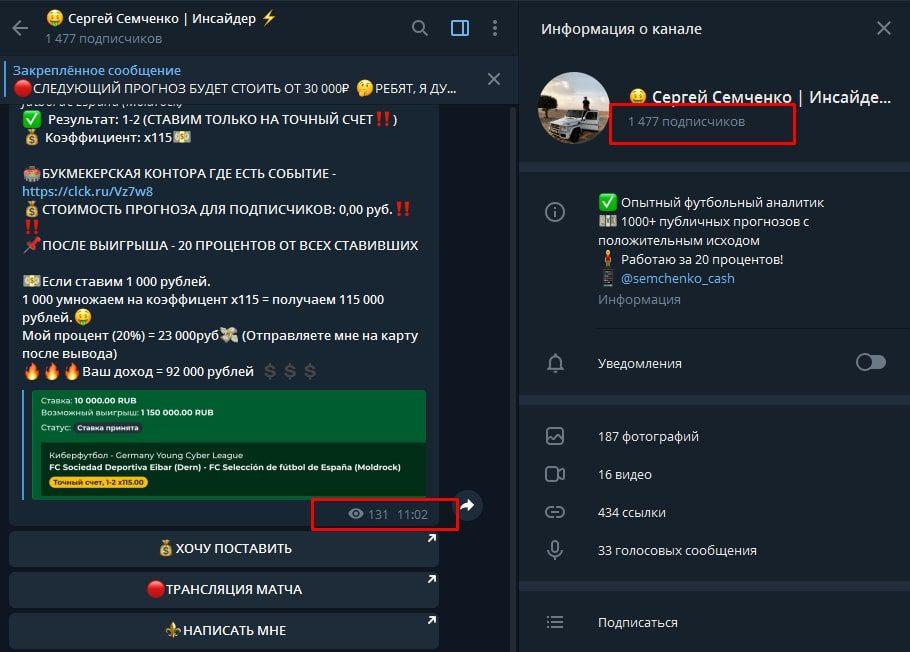Сергей Семченко Инсайдер в Телеграмм – обзор канала