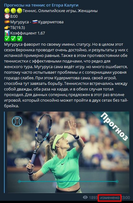 Прогнозы на теннис от Егора Калуги